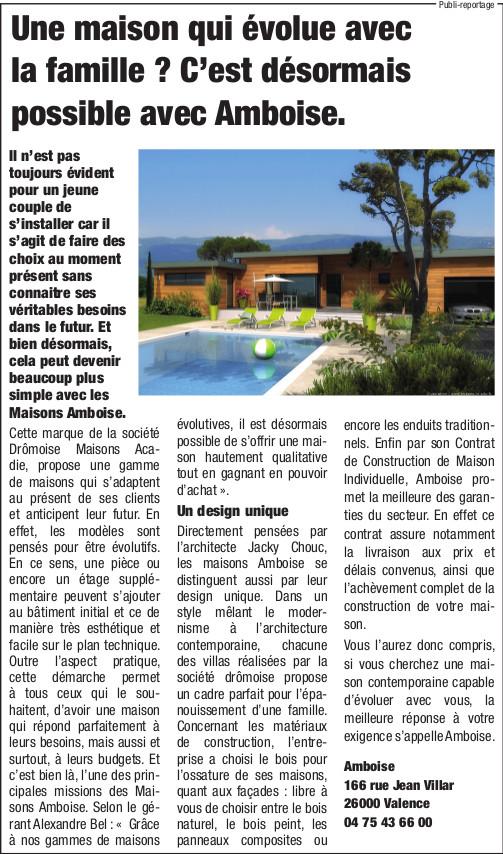 Maisons Amboise Dauphine Libere 1er novembre 2015
