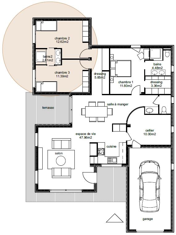 plan de maison évolutive