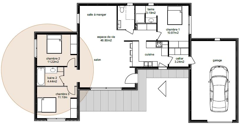 Plan Maison Adhara 3-3