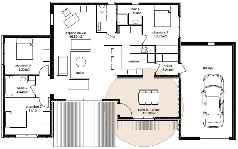 Plan Maison Adhara 3-4