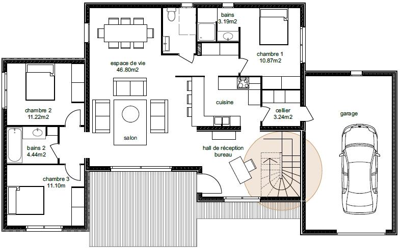 Plan Maison Adhara 3-5