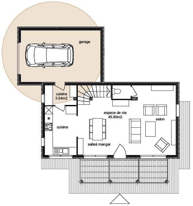 Plan Maison Atria 4-3