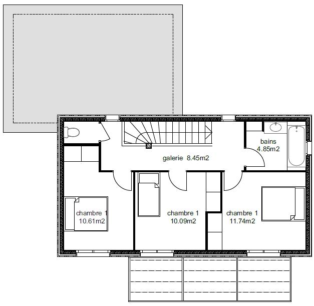 Plan Maison Atria 4-4